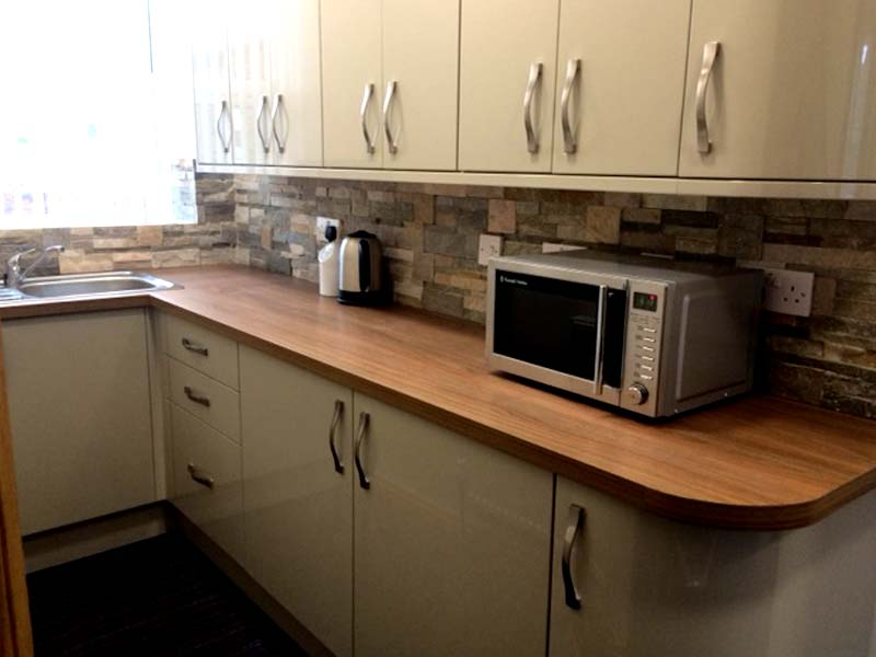 luxury offices to rent Hipperholme equipped with kitchen facilities.