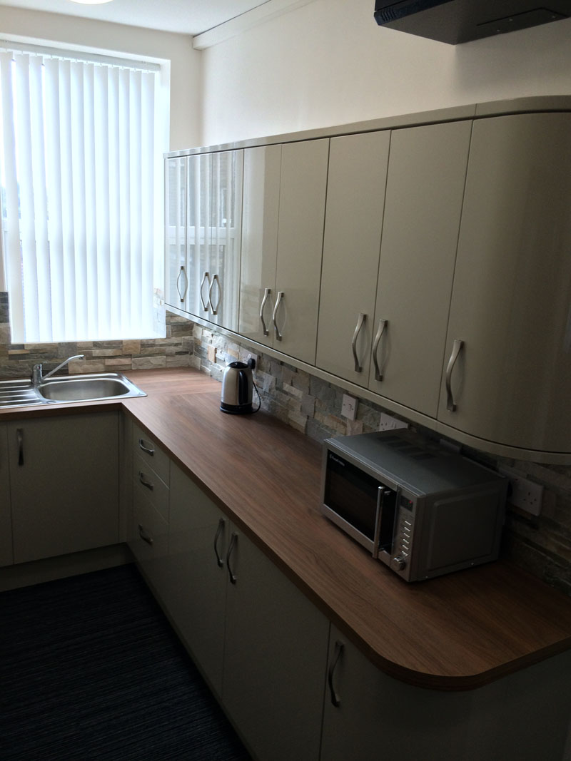 fully furnished office suites for rent with kitchen facilities in Halifax